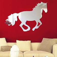 Fulltime(TM) Home Decoration Galloping Horse Sticker DIY <b>Mirror</b> ...