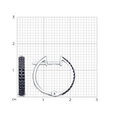 <b>Серьги кольца с чёрными</b> бриллиантами SOKOLOV – купить в ...