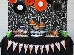 halloween gallery wall decor hallowen walljpg full size of decoration halloween party decoration black spider web backdrop cool diy paper ornament