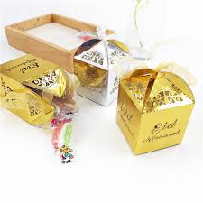<b>10pcs</b> lot Gold Silver Happy <b>Eid Mubarak</b> Candy gift box ramadan ...