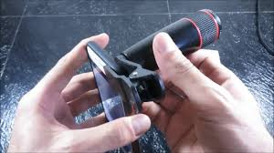 IPhone Telescopic Lens <b>Telephoto lens Clip</b>. Zoom in with any smart ...