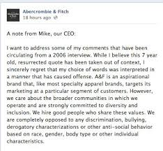 Reputation Management: A Case Study of <b>Abercrombie & Fitch</b> ...