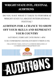 vol no university center for 8 auditions for state international festival