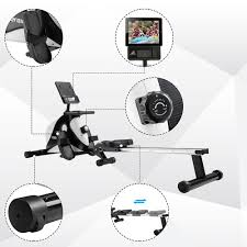 <b>Merax Rowing Machine</b> Folding Rudders <b>Magnetic</b> Braking System ...