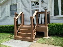 patio steps pea size x: small back deck with steps porch shown timbertechar twinfinishar decking in cedar