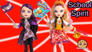 school spirit ever after high dolls apple raven set and shopkins school spirit ever after high dolls apple raven set and shopkins season 3 blind bag unboxing