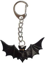 Miniblings <b>Bat</b> Key <b>Ring</b> Key <b>Chain Ring Halloween</b> Vampire ...