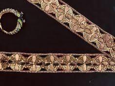 <b>Antique Gold</b> Embroidered <b>Indian</b> Trim,<b>Vintage Handmade</b> Old <b>Gold</b> ...