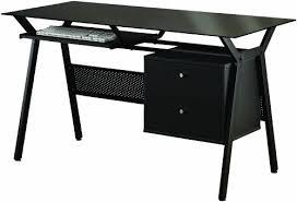 amazoncom coaster computer desk black kitchen dining black metal computer desk