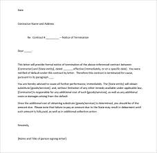notice of service termination letter letter template pdf early lease termination letter template