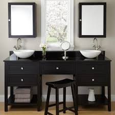 vanity stools benches bathroom charming wall hung vanity black wood staining with bench and double se