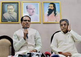 spooked by vyapam bjp leave shivraj singh chouhan to fend for madhya pradesh chief minister shivraj singh chouhan addresses a press conference in connection the death