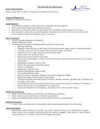 School Nurse Job Description For Resume Resume For Your Job