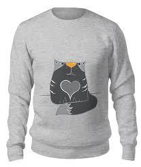 #gray #catart #catsandkittens #hearts   Унисекс, Принты и Надписи