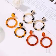 Korean Geometric <b>Fashion</b> Leopard <b>Round</b> Plate <b>Temperament</b> ...