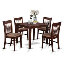 small square kitchen table: east west furniture oxford  piece x square kitchen table set w  dining chairs