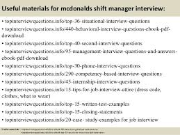 top  mcdonalds shift manager interview questions and answers       useful materials for mcdonalds shift manager