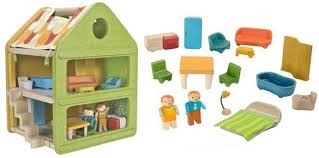 PlanToys New Affordable Fold  amp  Go Play House for Dollseco toy  green toys  non toxic toys  plantoys  green dollhouse