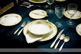photo dining table setting fine