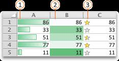 Use data bars, <b>color</b> scales, and icon sets to <b>highlight</b> data
