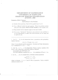 archive of old qualifying exams older miscellaneous statistics exams