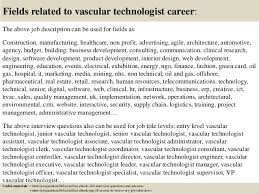 18 fields related to vascular technologist vascular technologist cover letter