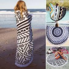 142CM <b>Round Beach</b> Towel Microfiber Large Geometric <b>Printing</b> ...