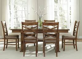 Trestle Dining Room Sets Rustic Trestle Table With Dining Chairs Old Hickory Dining Room