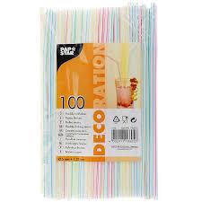 """<b>Трубочки</b> для напитков <b>Pap</b> Star """"Deco"""", 100 шт. SAN18605"""