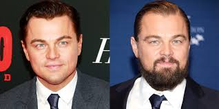 Image result for celebrity hair bang up with beard