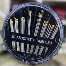 <b>30Pcs</b> Self-Threading Sewing Needles - EASY THREAD- <b>Big</b> Eye <b>Set</b>