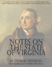 notes on the state of virginia by thomas jefferson the thomas jefferson notes on virginai book cover
