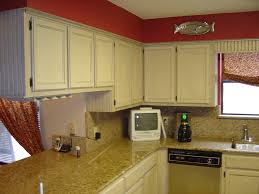 Painted Glazed Kitchen Cabinets Antique Red Kitchen Cabinets