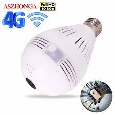 <b>3G 4G</b> SIM Card 1080P HD <b>Wireless</b> Dome <b>IP</b> Camera Bulb <b>Wi Fi</b> ...