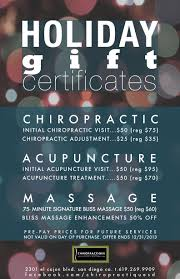holiday gift certificates chiropractique urban retreat in san holiday chiropractique gift certificates