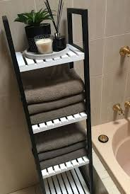 deals orange bathroom accessories: kmart hack bathroom caddy shelves painted black and white to make it more modern kmarthack