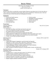 best order picker resume example livecareer create my resume