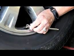 How To: Check <b>Tire Pressure</b> and Inflate Tires - YouTube
