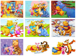 Cartoon <b>Needlework 5D Diy Diamond</b> Embroidery Winnie the Pooh ...