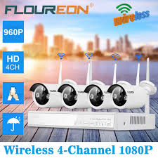 <b>FLOUREON 4CH Wireless CCTV</b> 1080P DVR Kit Outdoor Wifi ...