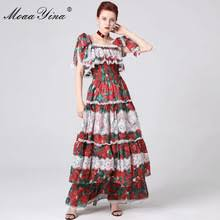 Moaayina Dress Spring Lace Designer Runway Summer Women ...