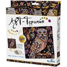 <b>Алмазная</b> мозаика Арт-Терапия Золотая сова, более 1000 ...