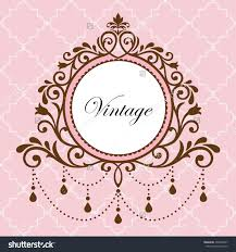 chandelier vintage border frame on pink background preview save to a lightbox background pink chandelier