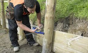 Small Picture How to Build a Timber Retaining Wall DIY Guides Mitre 10