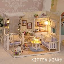 doll house furniture diy miniature dust cover 3d wooden miniaturas puzzle dollhouse for child birthday gifts aliexpresscom buy 112 diy miniature doll house