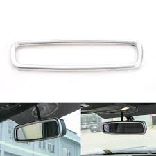 3 Colors ABS Car <b>Interior Rearview Mirror Trim</b> Ring Cover Fit For ...