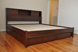 minimalist king size black painted hardwood bed frame that was oak wood platform which furnished with awesome black painted mahogany