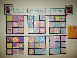 education unplugged we made a paper pieced quilt using the codes the underground railroad project