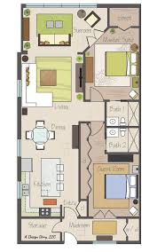 Awesome small floor plan  Practically two suites  and separated by    Awesome small floor plan  Practically two suites  and separated by their bathrooms  Plus