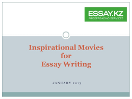 Dokumentarischer essay film review